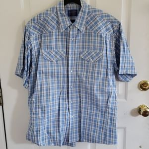 Pendleton Button Down Shirt Plaid Western Cowboy